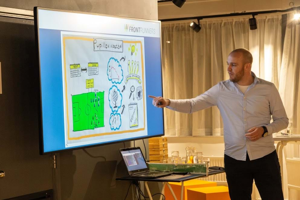 Frontrunner Gerrit Rietveld (KNVB) deelt de mislukkingen van zijn project.